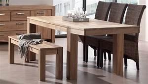 Petite Table Avec Rallonge : table de cuisine avec banc photo 3 12 proposer une table en bois avec allonge toutes ~ Teatrodelosmanantiales.com Idées de Décoration