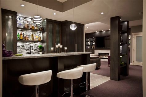 Modern Bar Ideas by Modern Basement Bar Designs Basement Transitional With