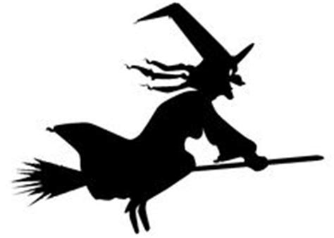witch  broom silhouette royalty  stock photography