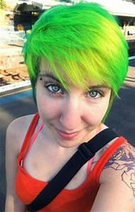 1000 images about 04 Hair Green Yellow Neon on