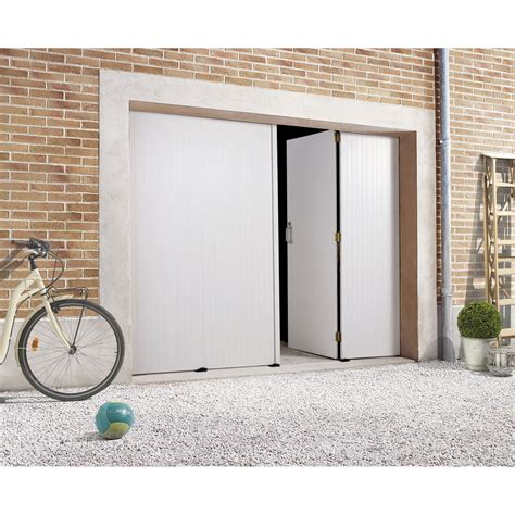 portes de garage leroy merlin porte de garage pliante manuelle primo h 200 x l 240 cm leroy merlin
