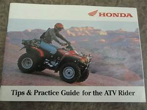 Honda Atv Riding Tips And Practice Guide Owners Manual