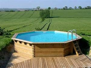 Grande Piscine Hors Sol : terrasse bois piscine octogonale ~ Premium-room.com Idées de Décoration