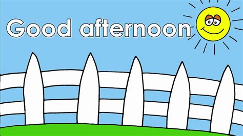 good afternoon song preschool the greetings song 229
