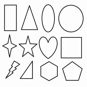 Shapes clipart black and white - Pencil and in color ...