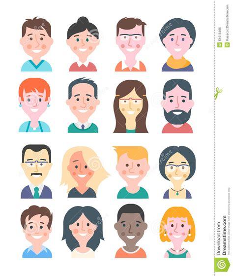 Cartoon People Avatars Stock Vector Image 51918485