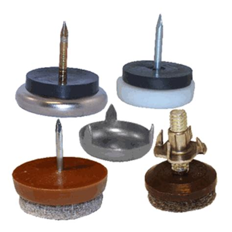 wooden furniture glides felt metal base