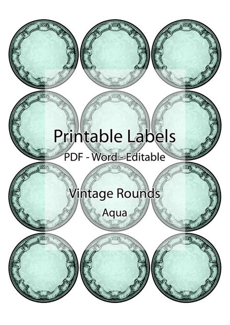 labels jar container printable editable label digital