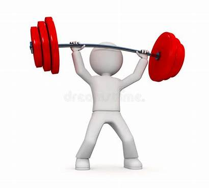 Lifting Person Power 3d Weights Heavy Head