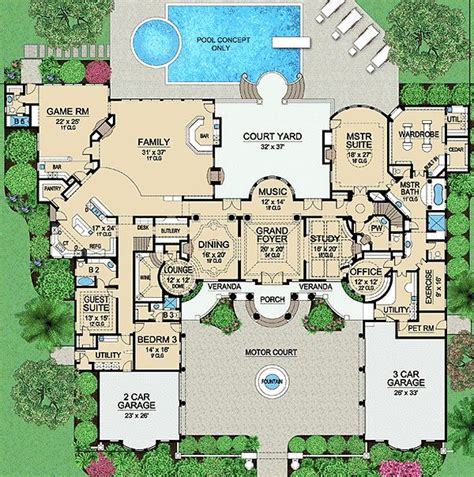 mansion house plans plan 36183tx palatial estate of your own country