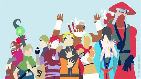Jinchuuriki  Naruto Shippuden  Minimalist Wallpaper (4k