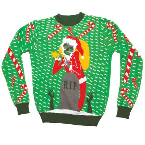 ugly christmas sweater zombie santa stupid com