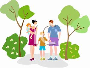 Family Walking Through the Park - Royalty Free Clip Art ...