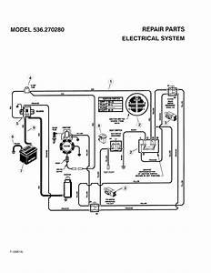 Electrical System Diagram  U0026 Parts List For Model 536270280 Craftsman