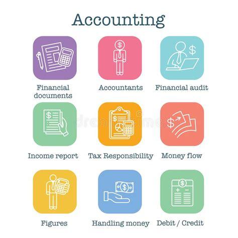 accountant  accounting icon set money accountant