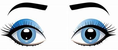 Eyes Clip Eye Clipart Female Eyebrows Cartoon