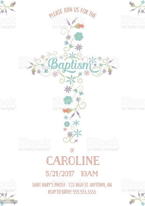 Baptism Christening Religious Occasion Invite Invitation