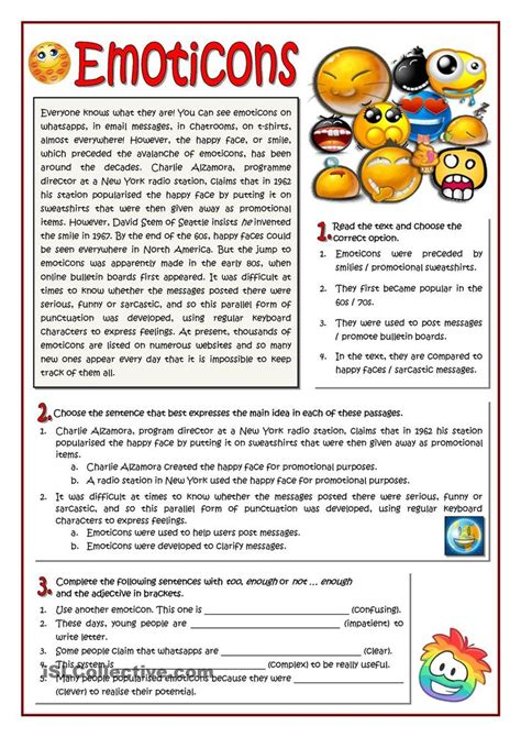 worksheet  emoticons esl worksheet   day
