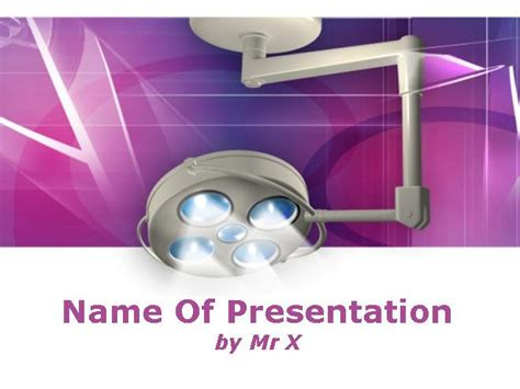 light equipment of a surgeon dentist powerpoint template