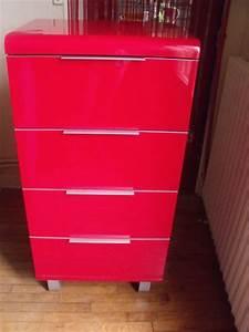 Meuble Cuisine Rouge Laqué : meuble cuisine laque rouge clasf ~ Teatrodelosmanantiales.com Idées de Décoration