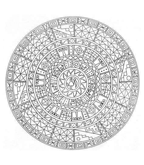 Coloriage Mandala Egypte à Imprimer