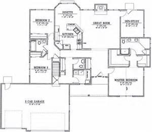 ranch house floor plans open plan ranch 9848 els designs residential home design
