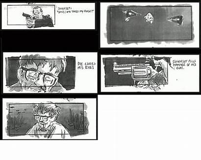 Se7en Ending Storyboards 1995 Criterion Alternate Courtesy