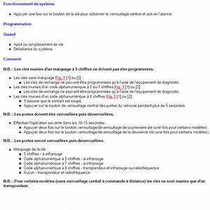 Logiciel Code Antidemarrage Renault : fonctionnement programmation cl s alarme verrouillage distance renault sc nic ann e 2000 ~ Medecine-chirurgie-esthetiques.com Avis de Voitures
