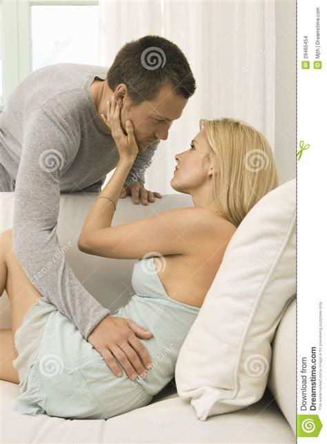 sexy couple  sofa  home stock images image