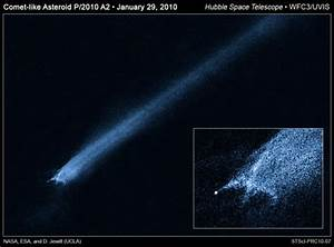 Crashed Asteroid Has a Tail that Keeps Getting Longer