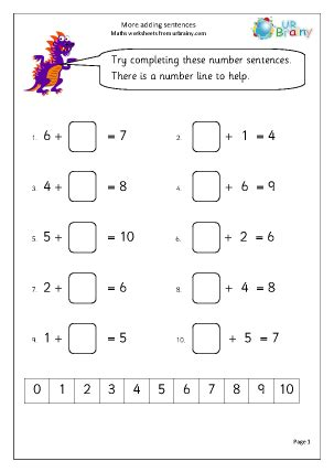 maths addition worksheets for year 1 more adding sentences addition maths worksheets for year 1