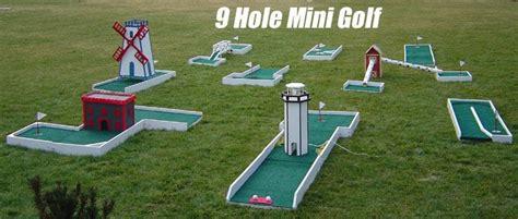 Homemade Backyard Mini Golf Course