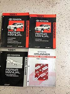 1991 Toyota 4runner Service Shop Repair Manual Set Oem W Ewd  U0026 Transmission Bk