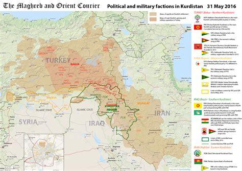 arab world map kurdistan political  military