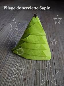 Pliage De Serviette Pour Noel : pliage de serviette en forme de sapin de no l d couvrir ~ Melissatoandfro.com Idées de Décoration