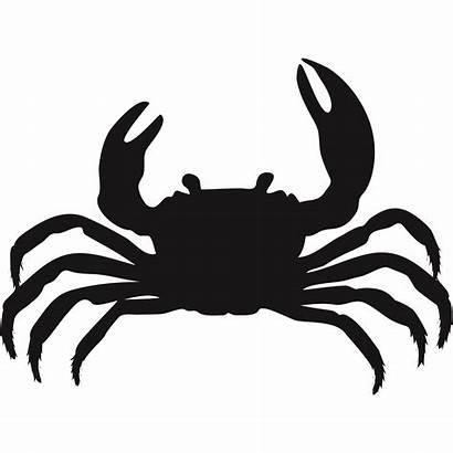 Silhouette Crab Clipart Wall Crap Bathroom Sea