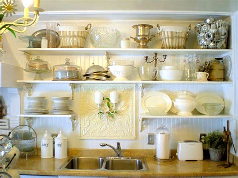 decoracion de cocinas  baldas  estanterias abiertas