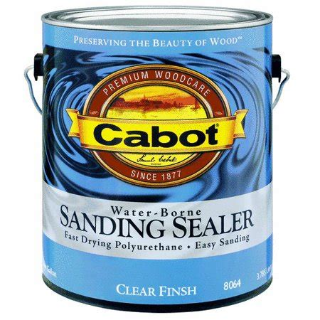 cabot interior water based sanding sealer walmartcom