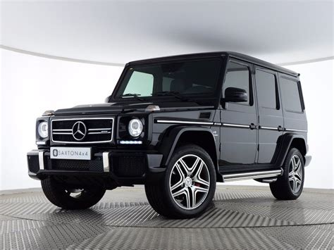 benz jeep black mercedes benz g class 5 5 g63 amg 4x4 5dr suv image 1
