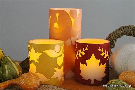 Candle Corn Wrap by 15 Thanksgiving Candle Display Ideas