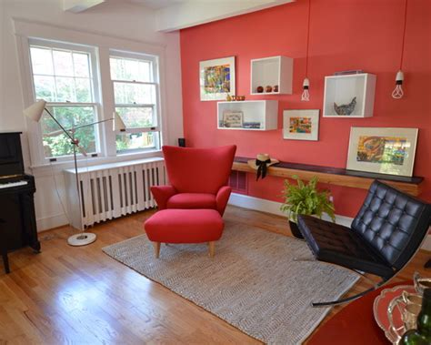 homeofficedecoration wall paint color for red couch