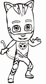 Pj Masks Coloring Pages Catboy Character sketch template