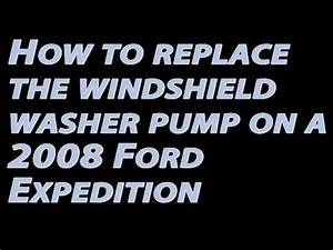 How To Replace The Windshield Washer Pump On A 2008 Ford