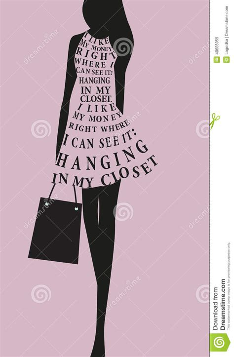 fashion woman dress  words stock vector