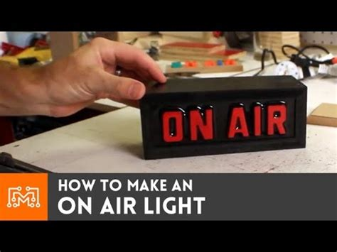 on air light how to make a remote controlled quot on air quot light