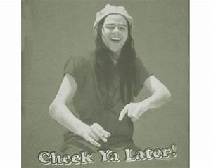 Dazed And Confused Check Ya Later Olive Graphic Tee Shirt