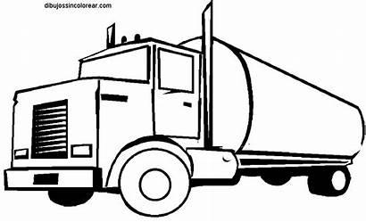 Truck Tanker Semi Coloring Clipart Clip Peterbilt