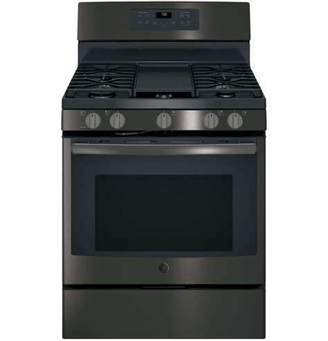 ge jgbbejts black stainless   standing gas convection range wgriddle special order
