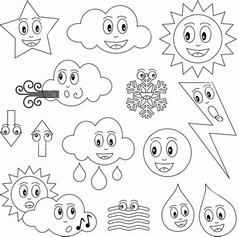 weather coloring pages preschool coloring home