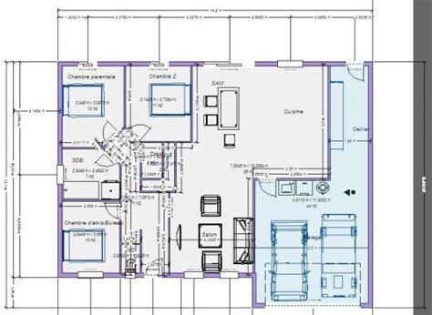 Plan Maison Plain Pied 100m2 Avec Garage